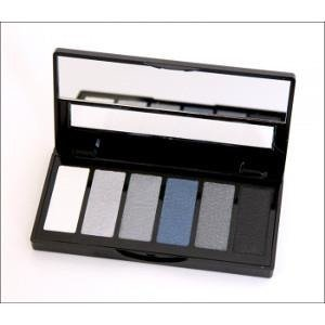 IsaDora Eye Color  Bar Paleta sześciu cieni do powiek 64 Grey Temtation 5g  +  [  G  R  A  T  I  S : MINI-MASKARA ISADORA ]
