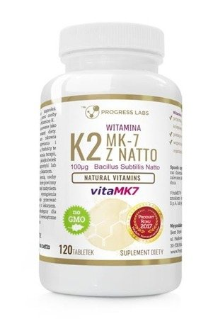 Progress Labs Witamina K2 vitaMK-7 z Natto 100µg suplement diety 120 tabletek